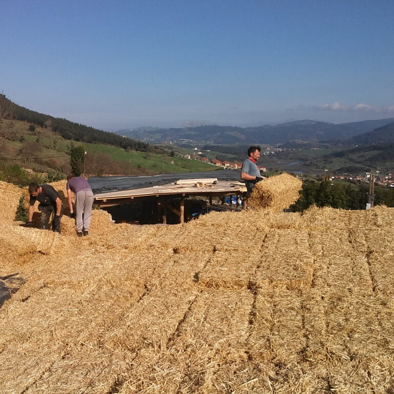 straw bale insluation on w house roof